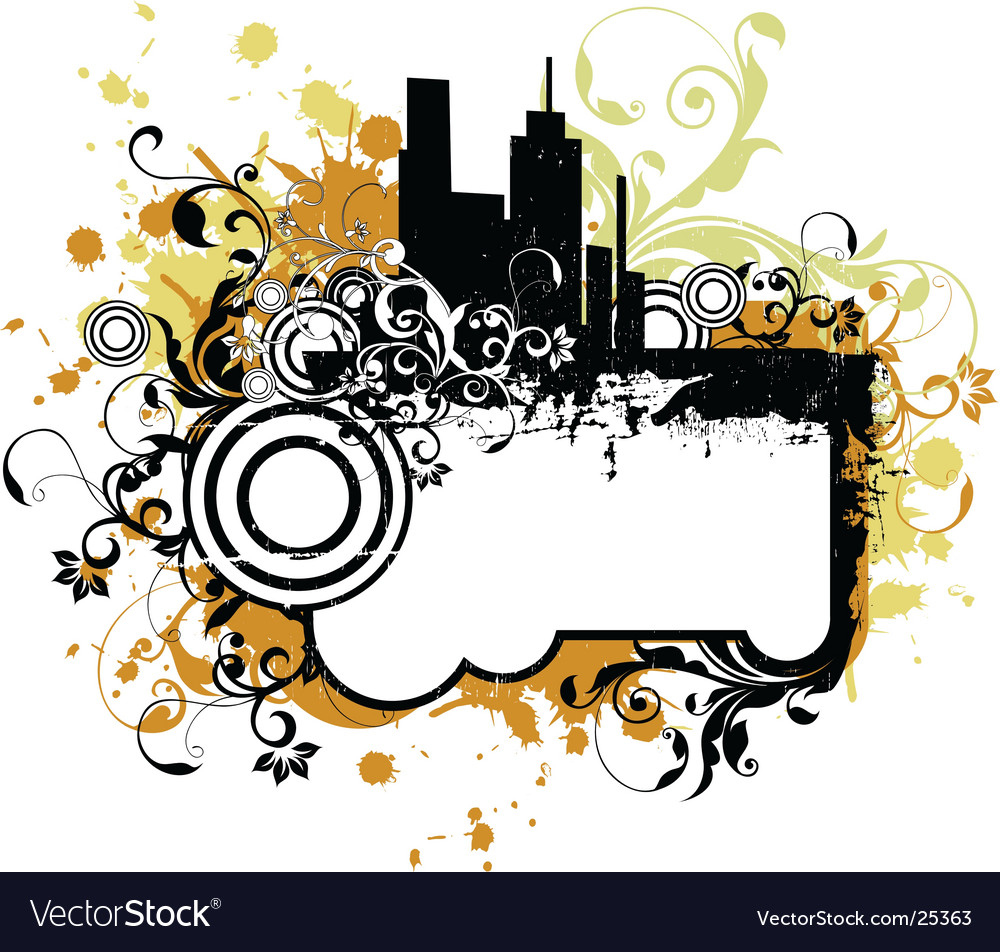Urban city frame vector | Price: 1 Credit (USD $1)