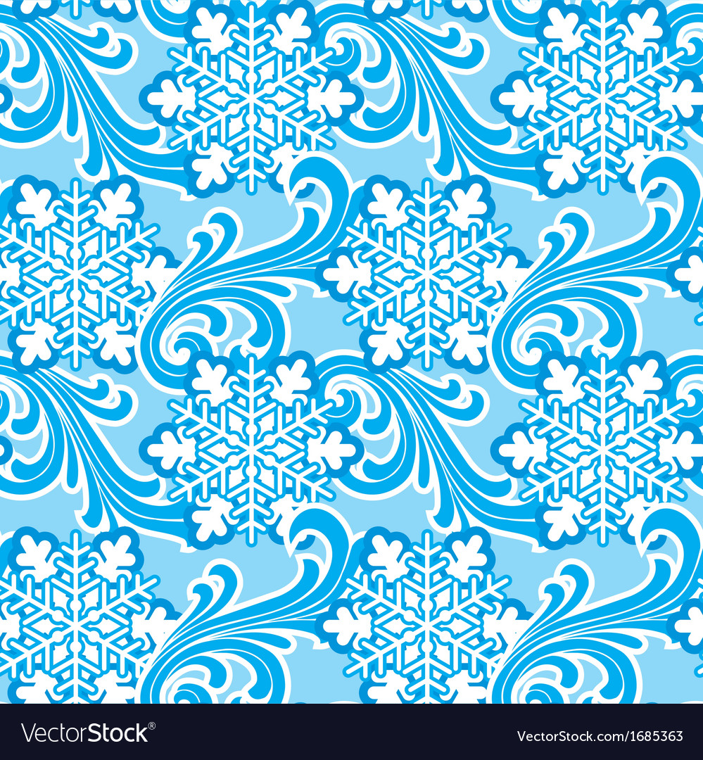 Winter ornament seamlec vector | Price: 1 Credit (USD $1)