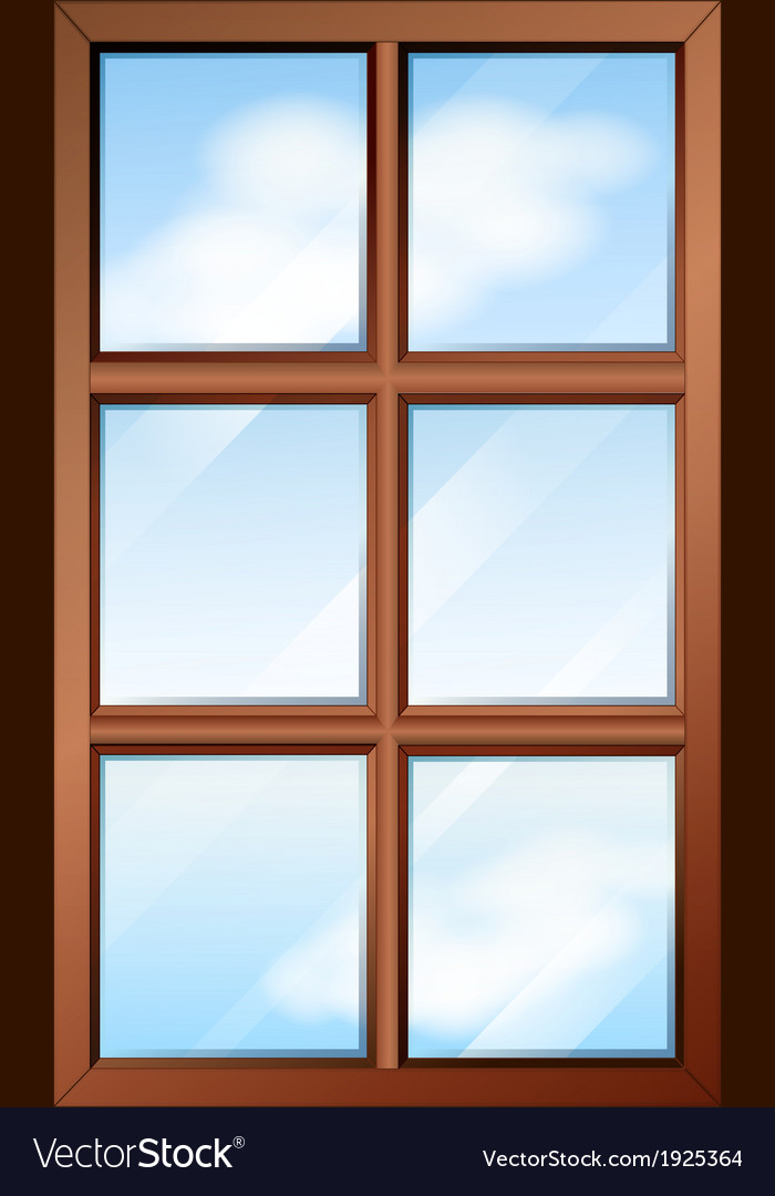 A wooden window with glasspanes vector | Price: 1 Credit (USD $1)