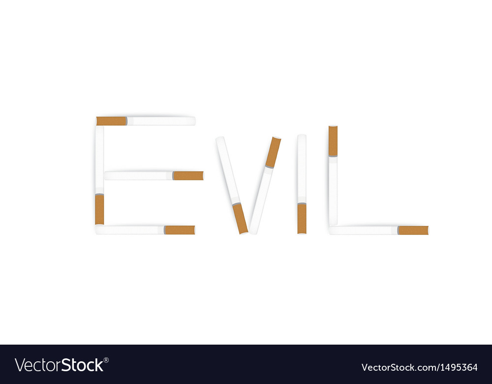 Anti tobacco banner isolated on white vector | Price: 1 Credit (USD $1)