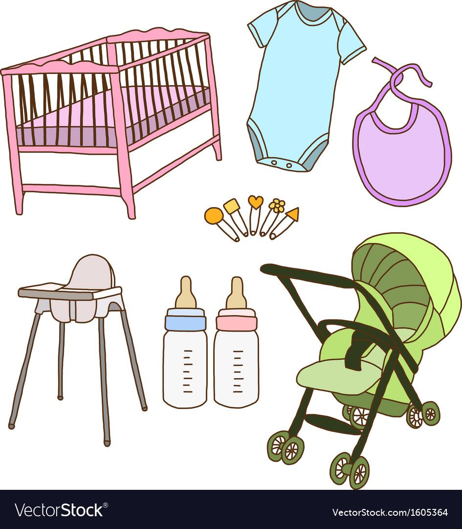 Baby accessories vector   Price: 1 Credit (USD $1)