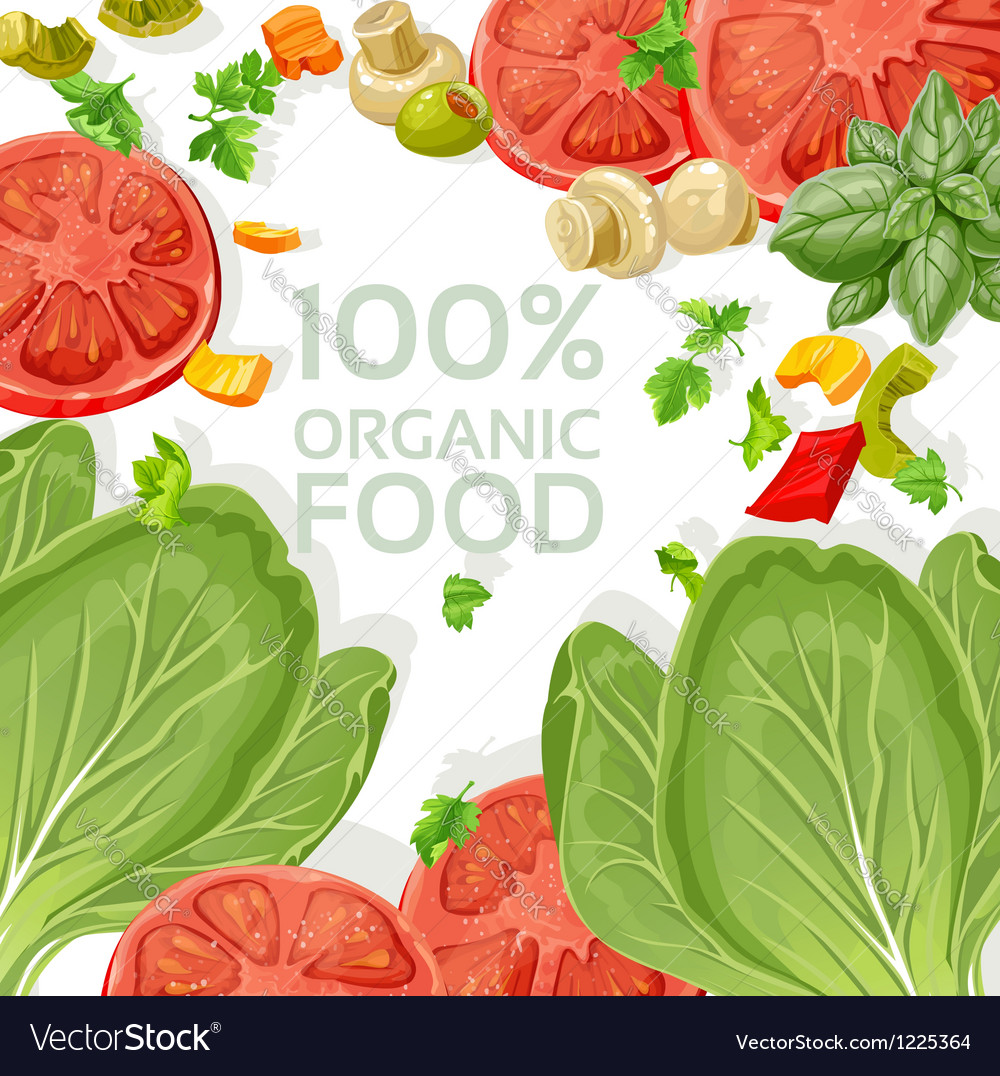 Background vegetarian fresh organic natural food vector | Price: 3 Credit (USD $3)