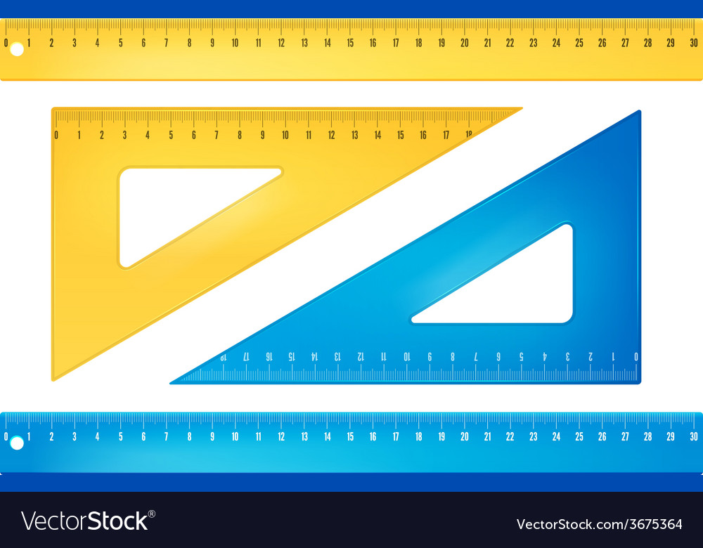 Blue and yellow rulers vector | Price: 1 Credit (USD $1)