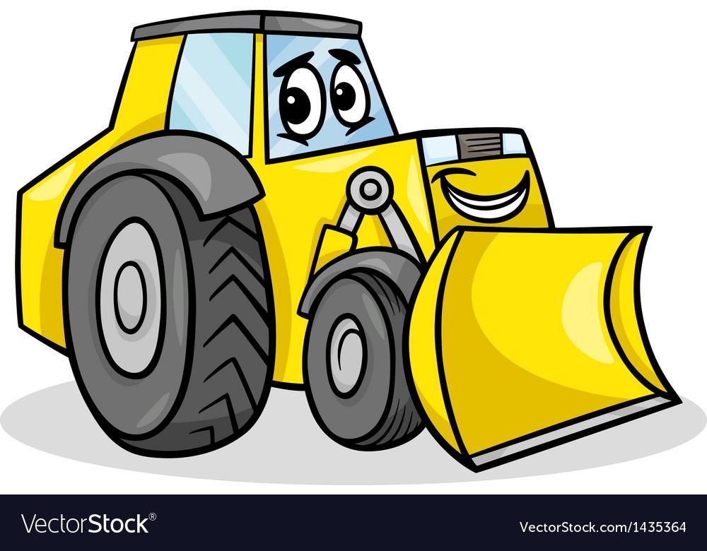 Bulldozer character cartoon vector | Price: 1 Credit (USD $1)