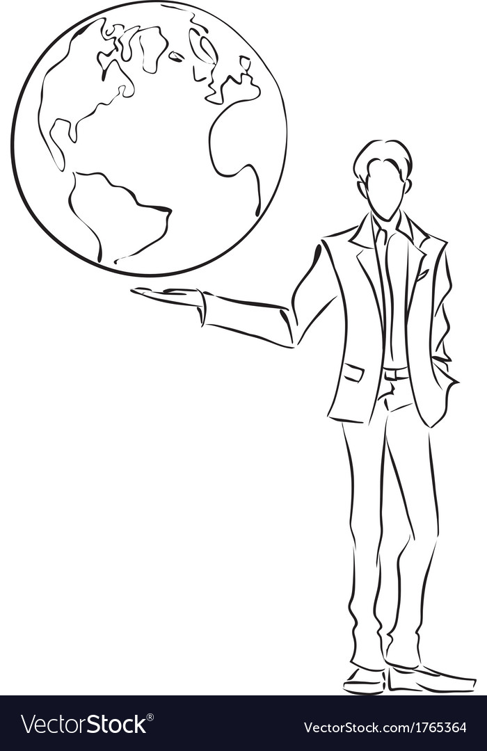 Business and world vector | Price: 1 Credit (USD $1)