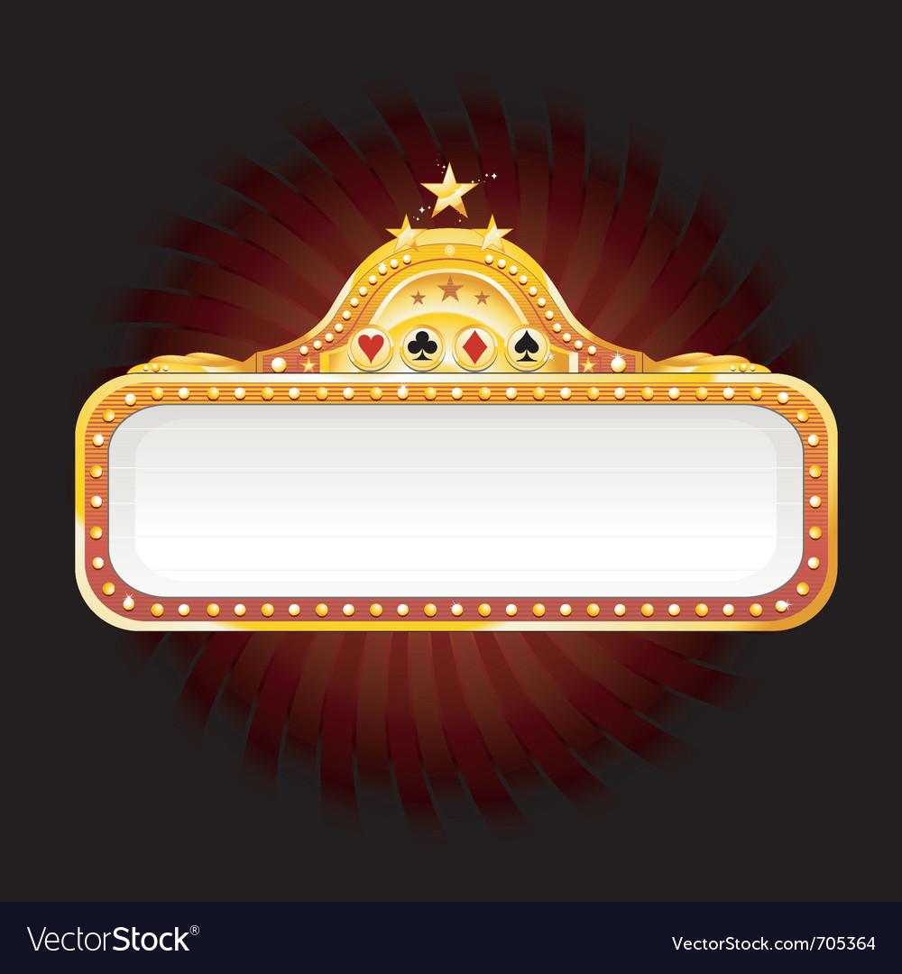 Casino sign vector | Price: 1 Credit (USD $1)