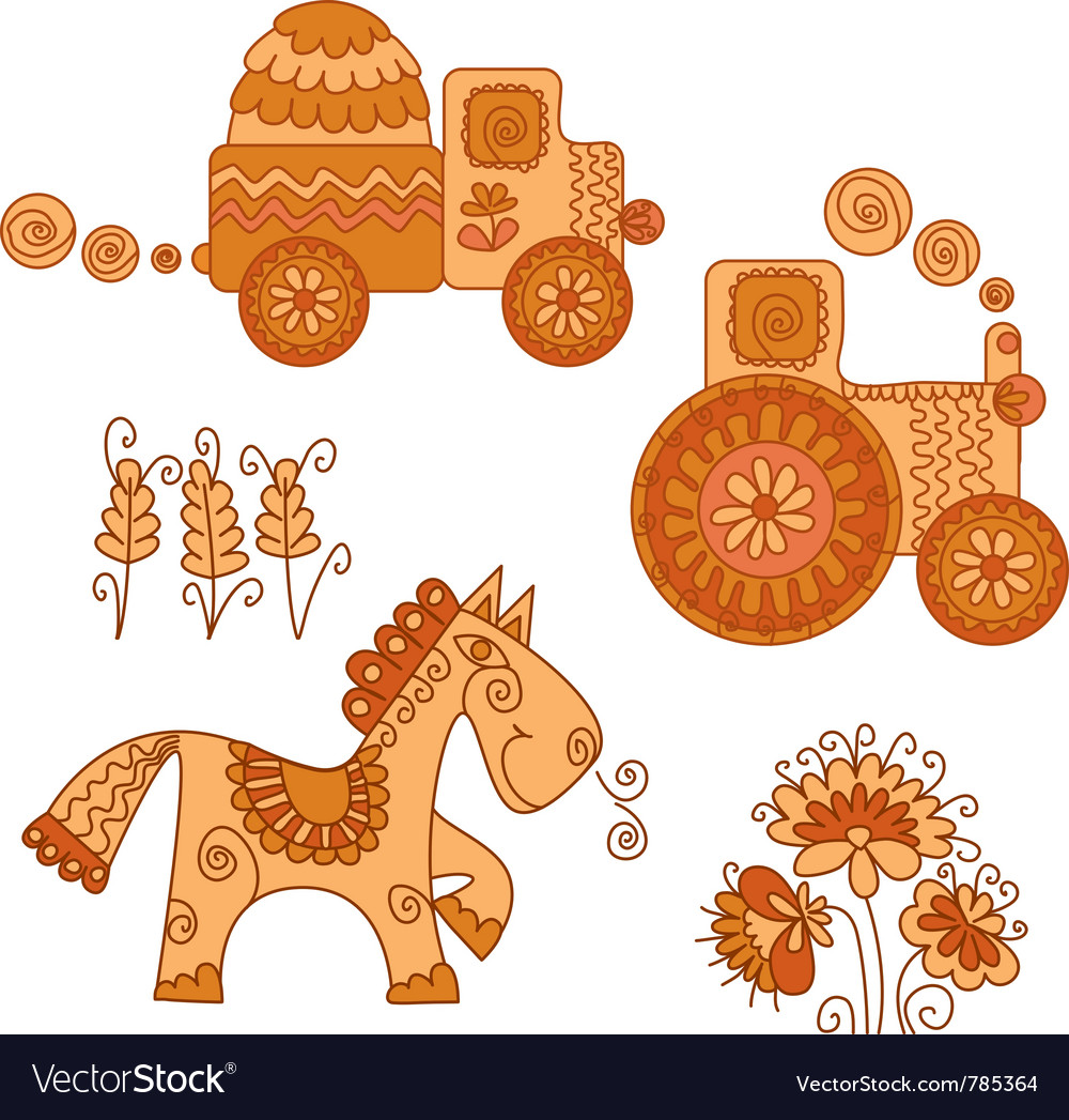 Color of agriculture transport vector | Price: 1 Credit (USD $1)