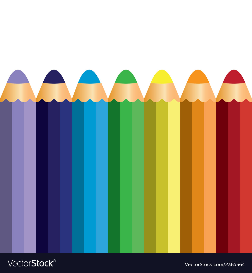 Colorful pencil vector | Price: 1 Credit (USD $1)