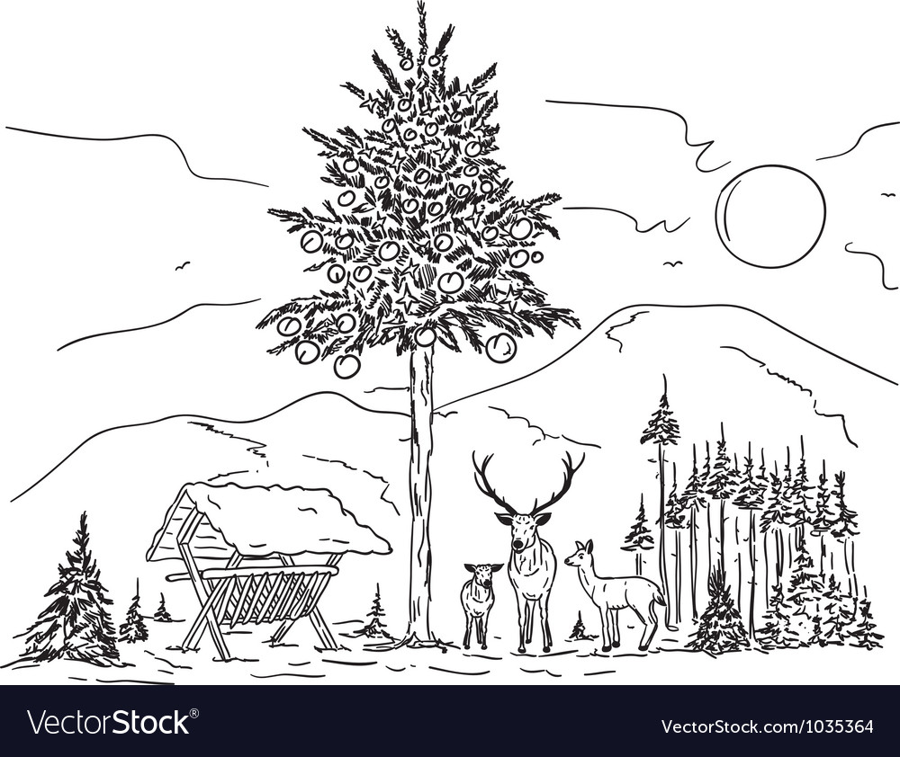 Deer family vector | Price: 1 Credit (USD $1)