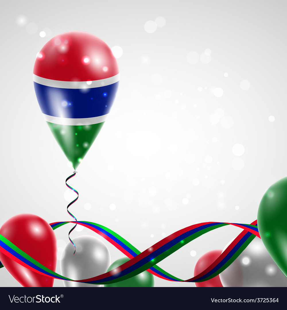 Flag of gambia on balloon vector   Price: 1 Credit (USD $1)