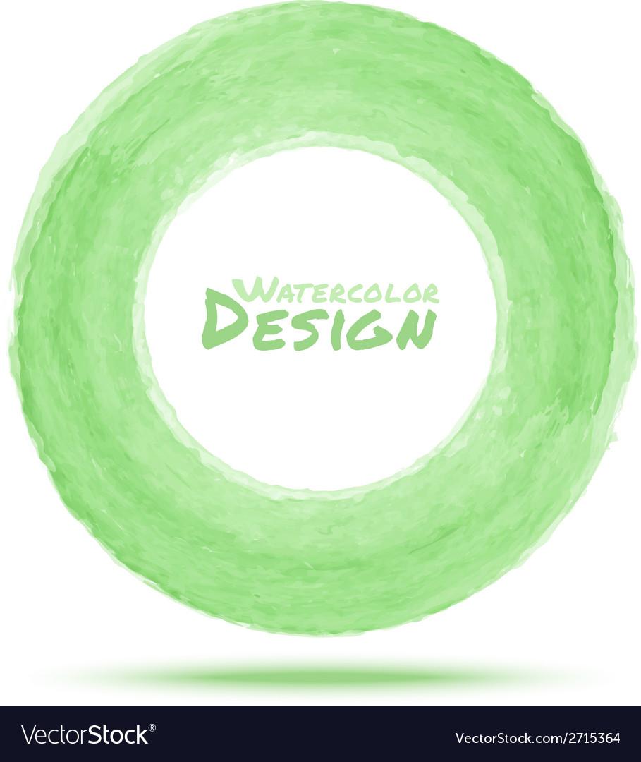 Hand drawn watercolor light green circle design el vector | Price: 1 Credit (USD $1)