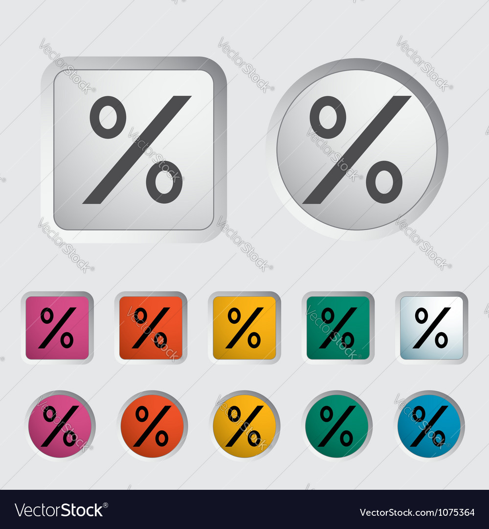 Icon percent sign 2 vector | Price: 1 Credit (USD $1)