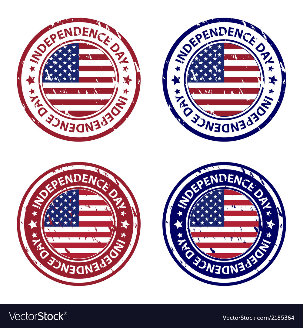 Independence day rubber stamps vector | Price: 1 Credit (USD $1)