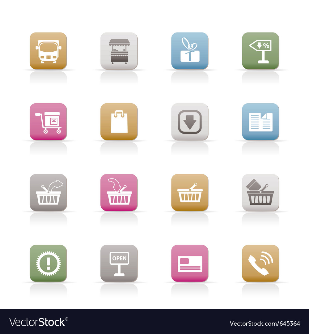 Online shop icons vector | Price: 1 Credit (USD $1)