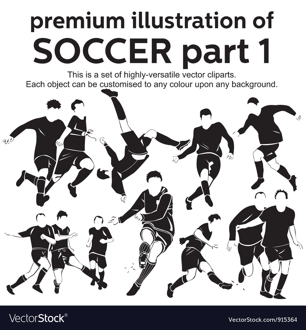 Premium soccer part 1 vector | Price: 1 Credit (USD $1)