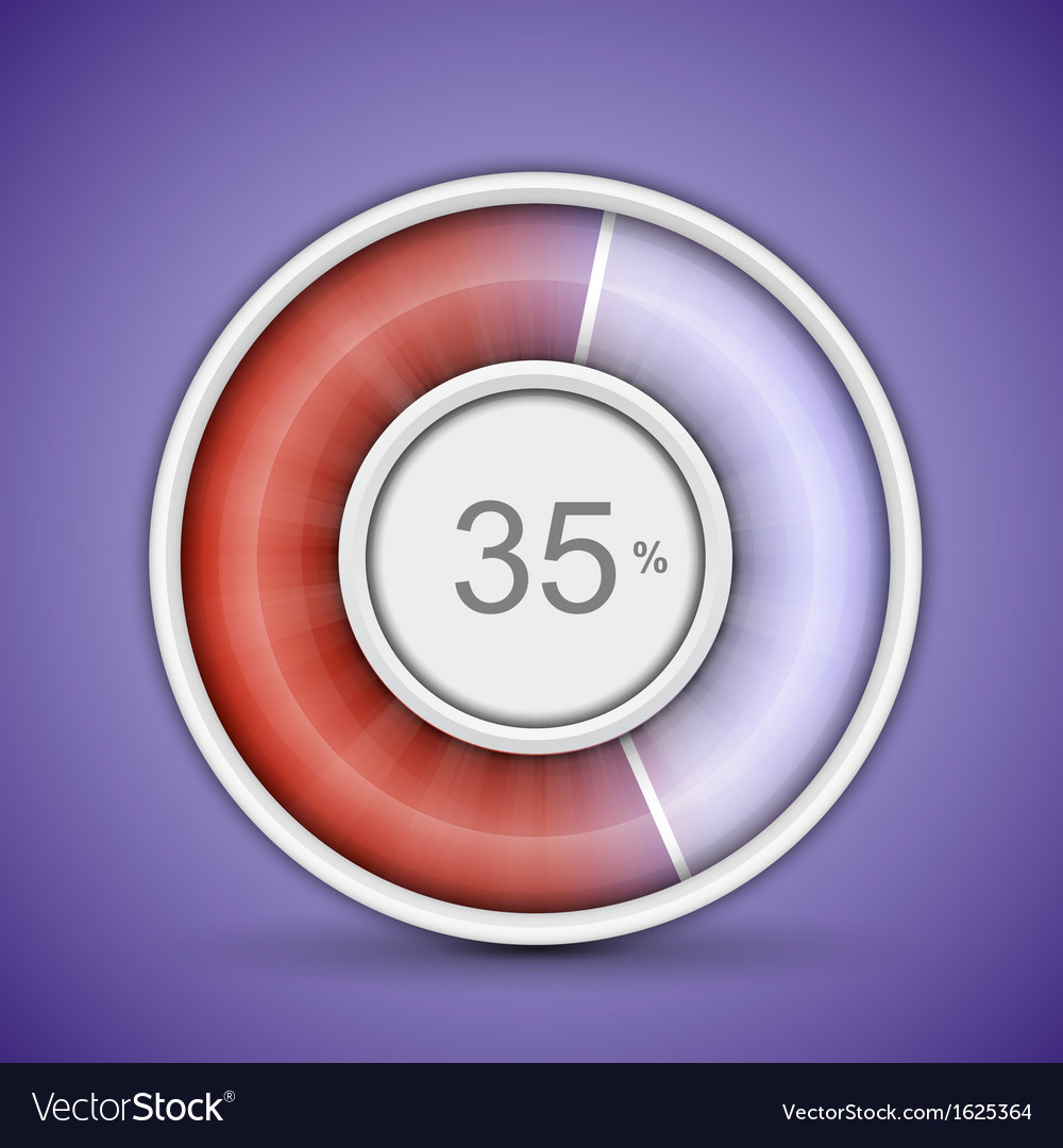 Radial progress bar vector | Price: 1 Credit (USD $1)