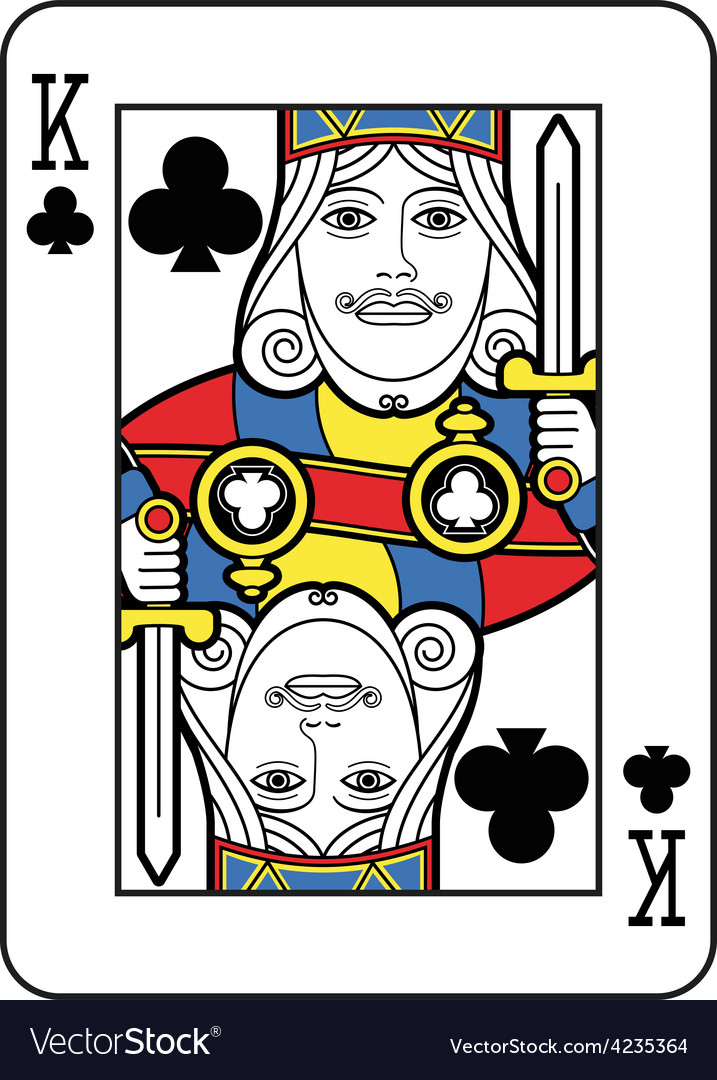 Stylized king of clubs vector | Price: 1 Credit (USD $1)
