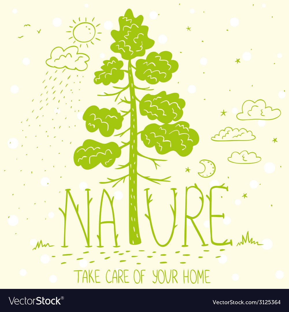 Tree nature ecology vector | Price: 1 Credit (USD $1)