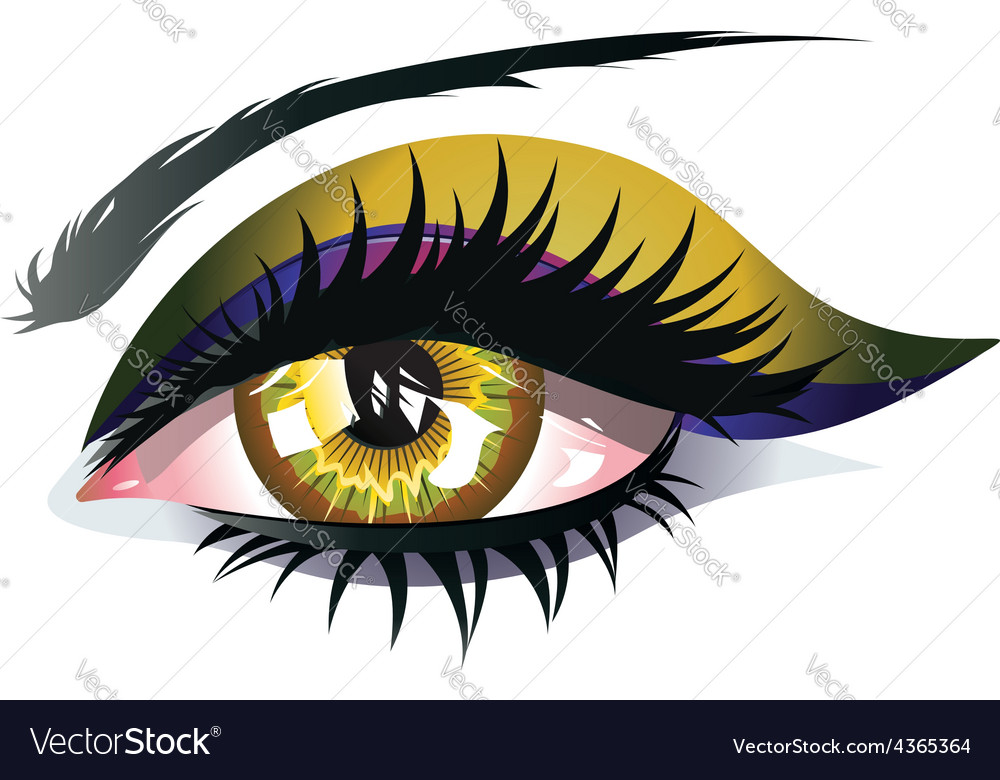 Yellow eye vector | Price: 1 Credit (USD $1)