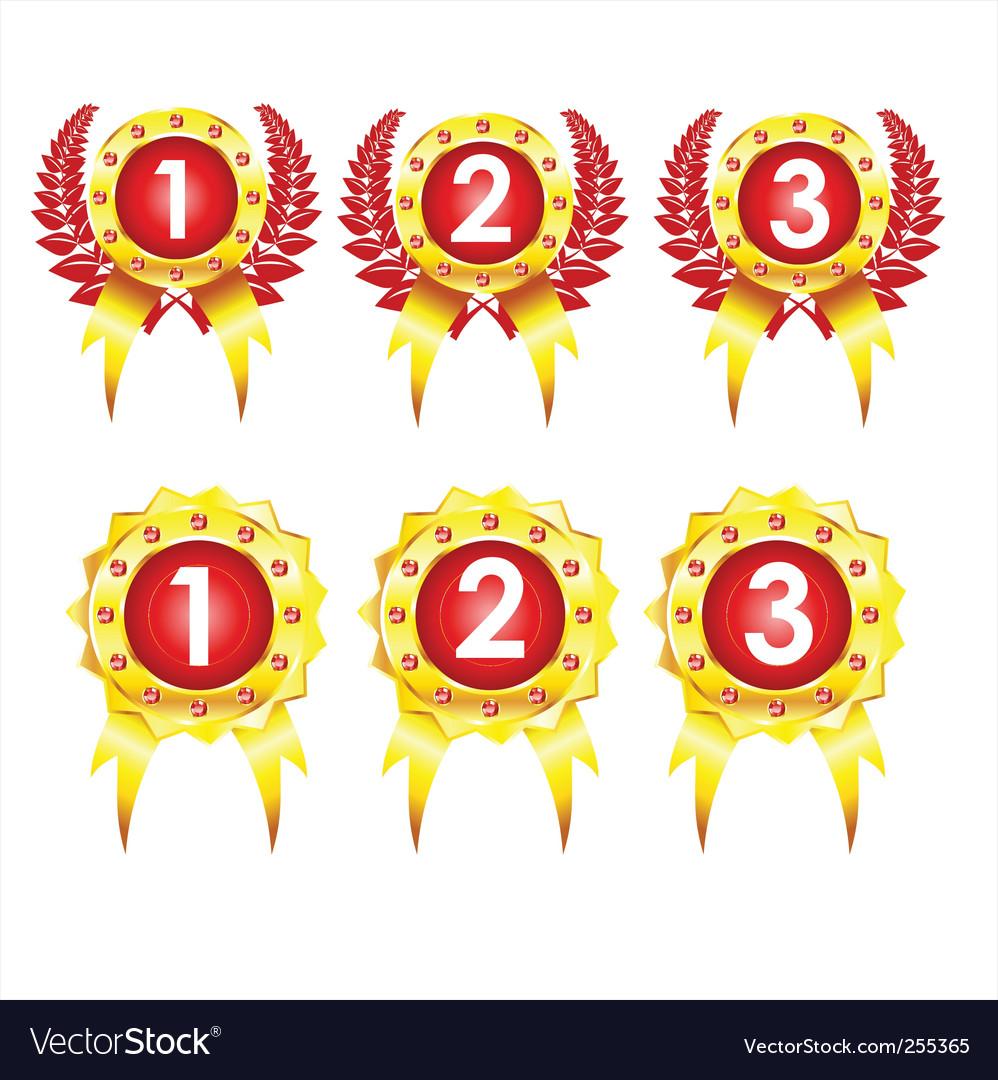 Best golden badges vector | Price: 1 Credit (USD $1)