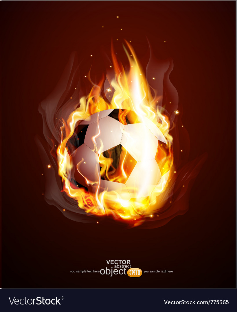 Burning football ball vector | Price: 1 Credit (USD $1)