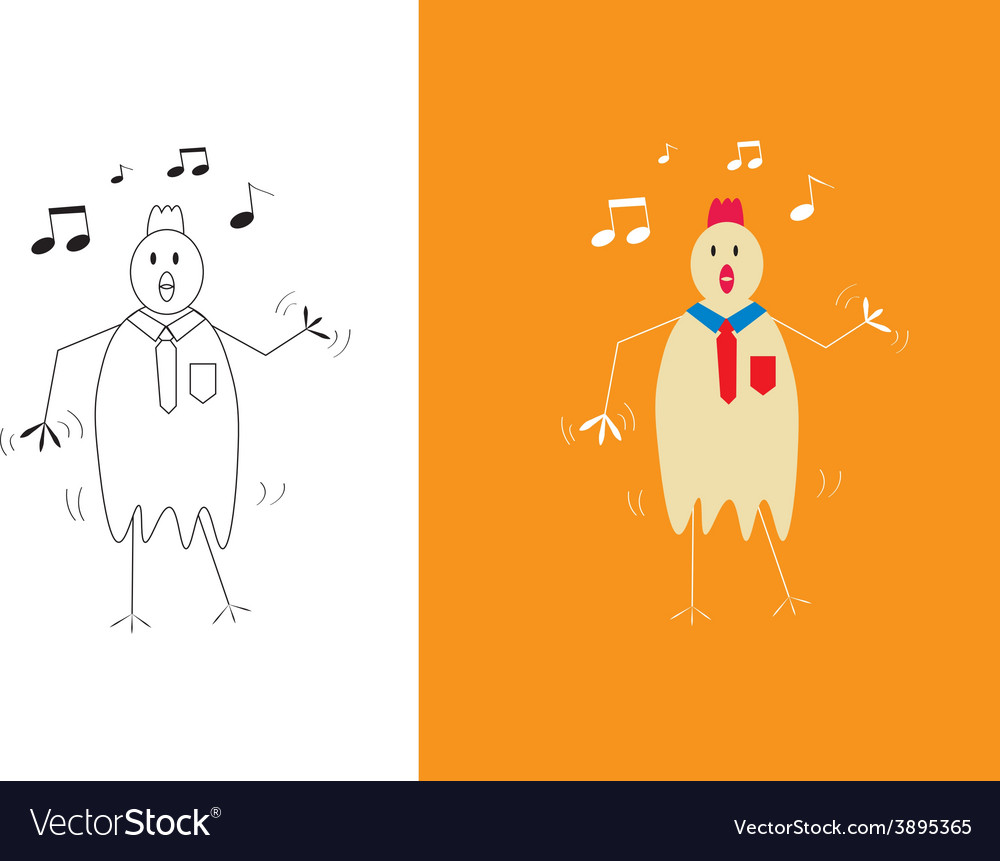 Chicken businessman dancing vector | Price: 1 Credit (USD $1)