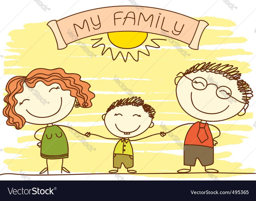 Family cartoon vector | Price: 1 Credit (USD $1)