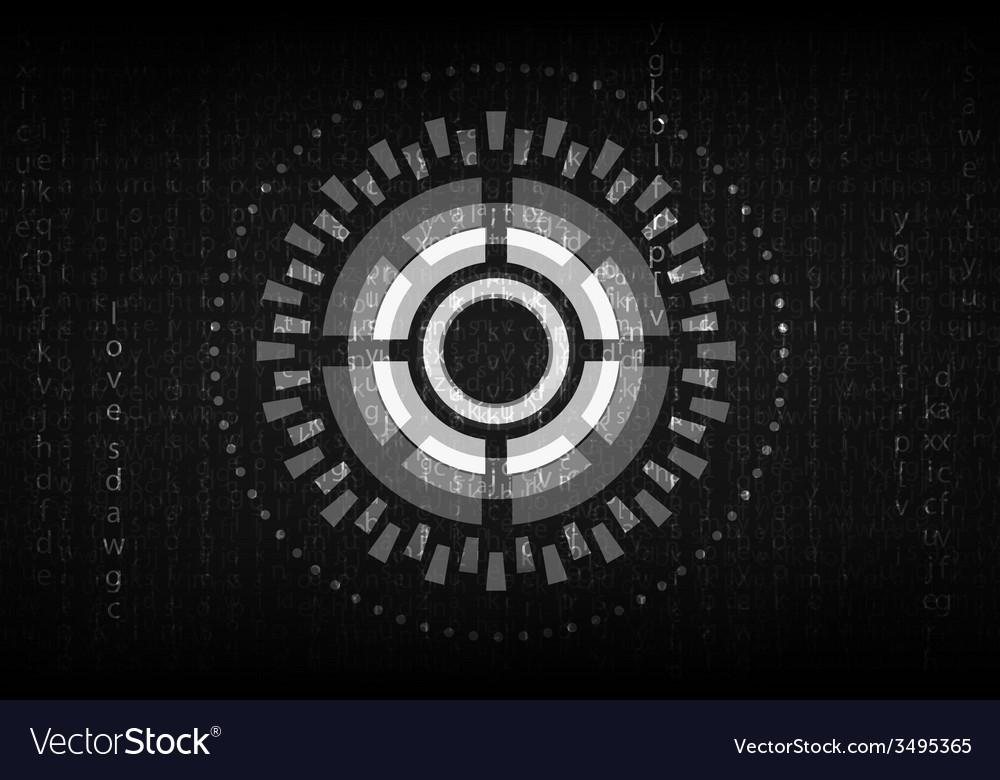 Futuristic english code vector | Price: 1 Credit (USD $1)