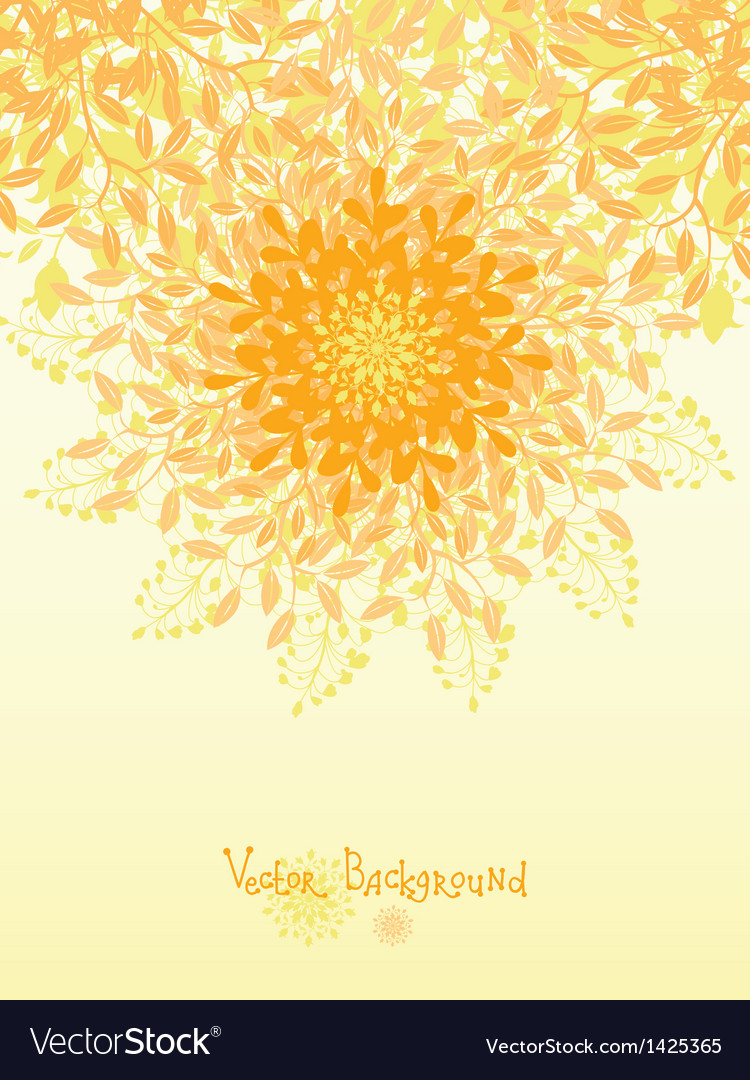 Golden nature circle design element background vector | Price: 1 Credit (USD $1)