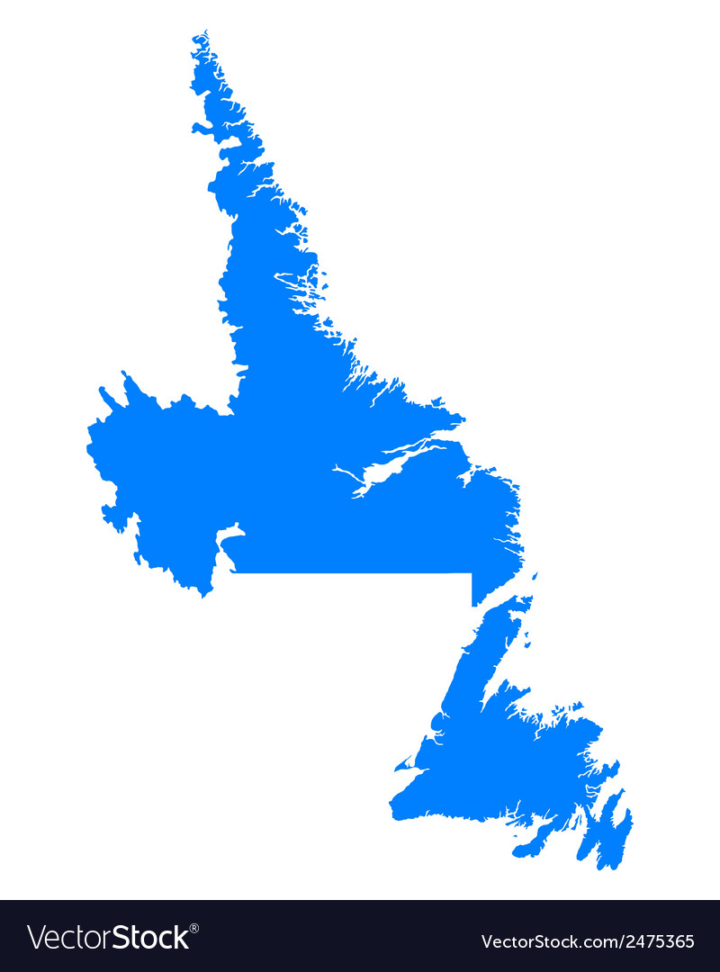 Map of newfoundland and labrador vector | Price: 1 Credit (USD $1)