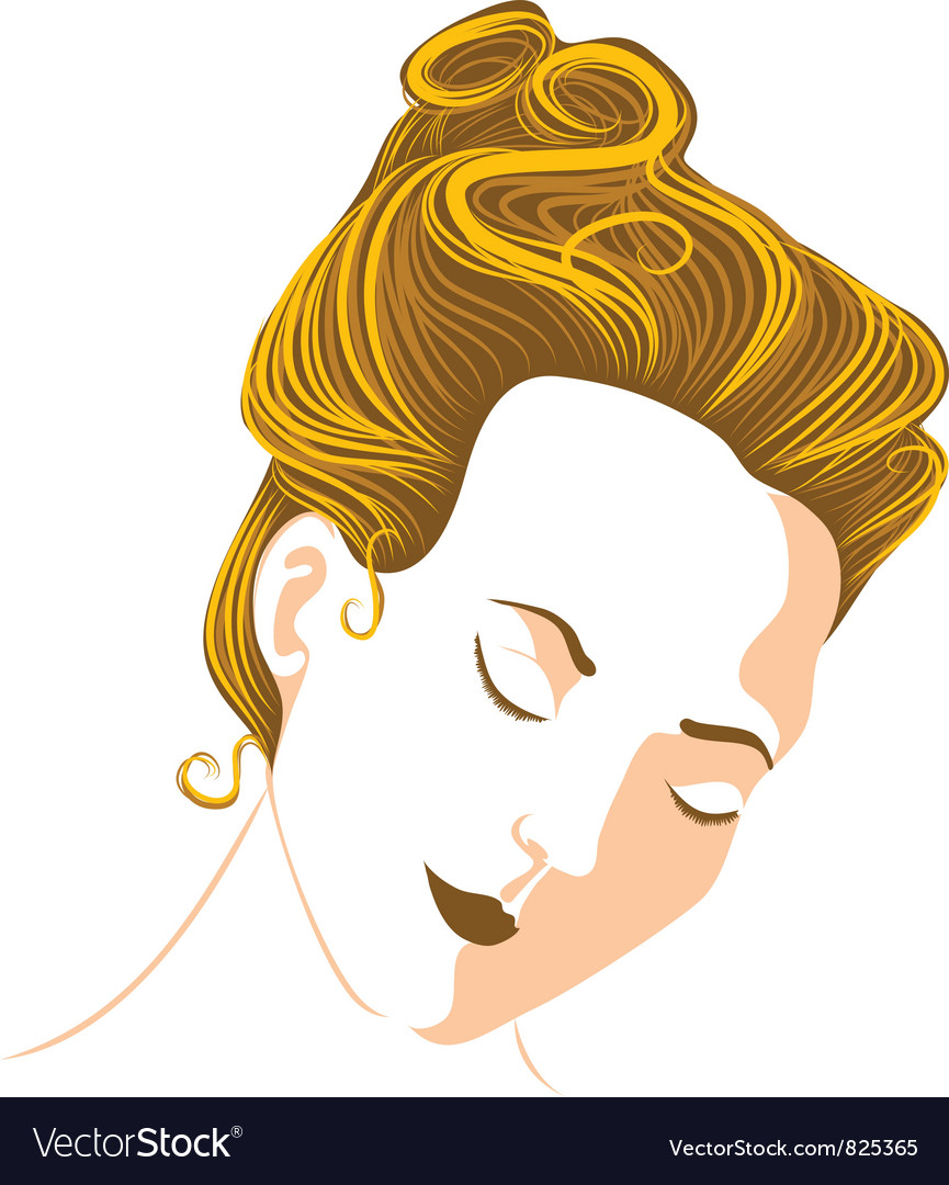 Womans head vector | Price: 3 Credit (USD $3)