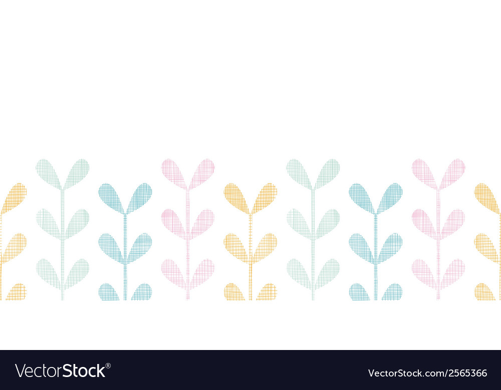 Abstract textile colorful vines leaves horizontal vector | Price: 1 Credit (USD $1)
