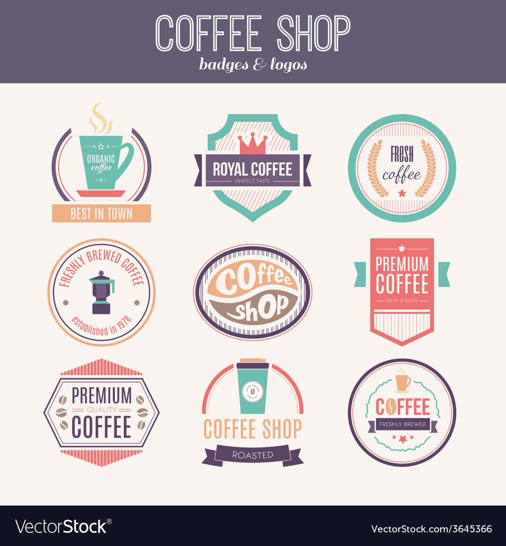 Coffee shop logo collection vector   Price: 1 Credit (USD $1)