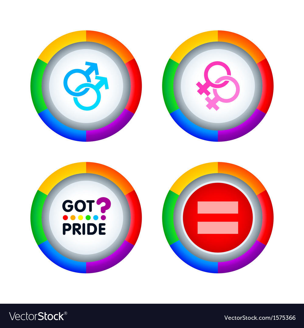 Gay pride badges vector | Price: 1 Credit (USD $1)