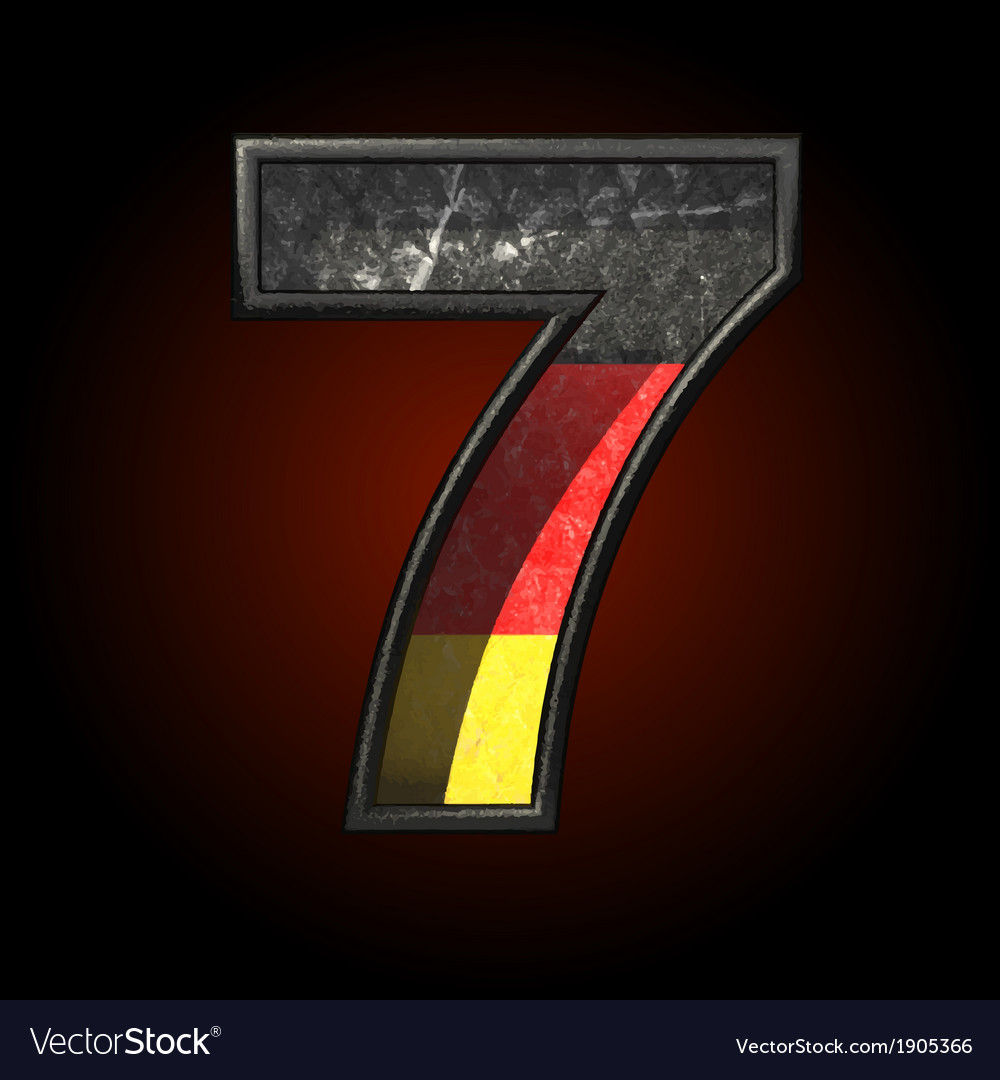 Germany cutted figure 7 vector | Price: 1 Credit (USD $1)