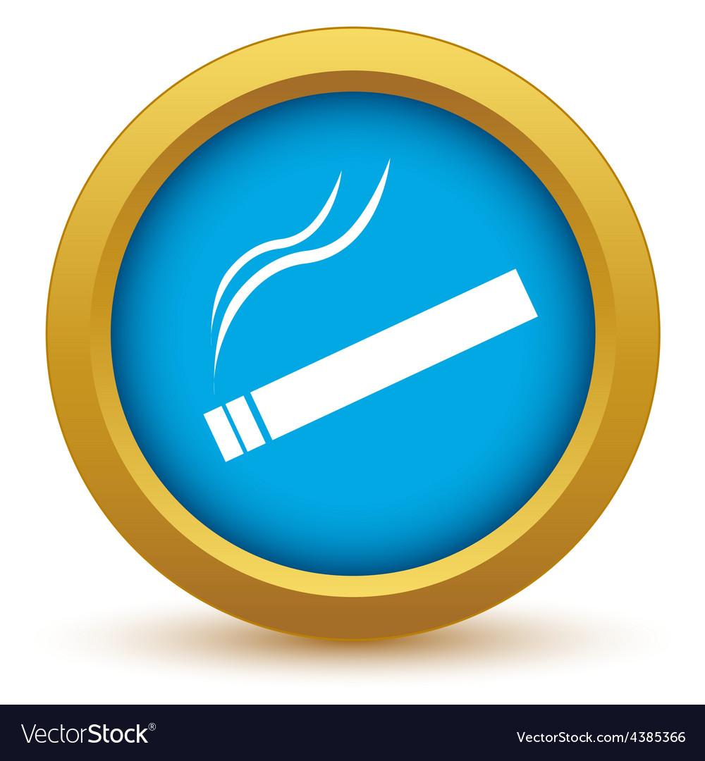 Gold cigarette icon vector | Price: 1 Credit (USD $1)