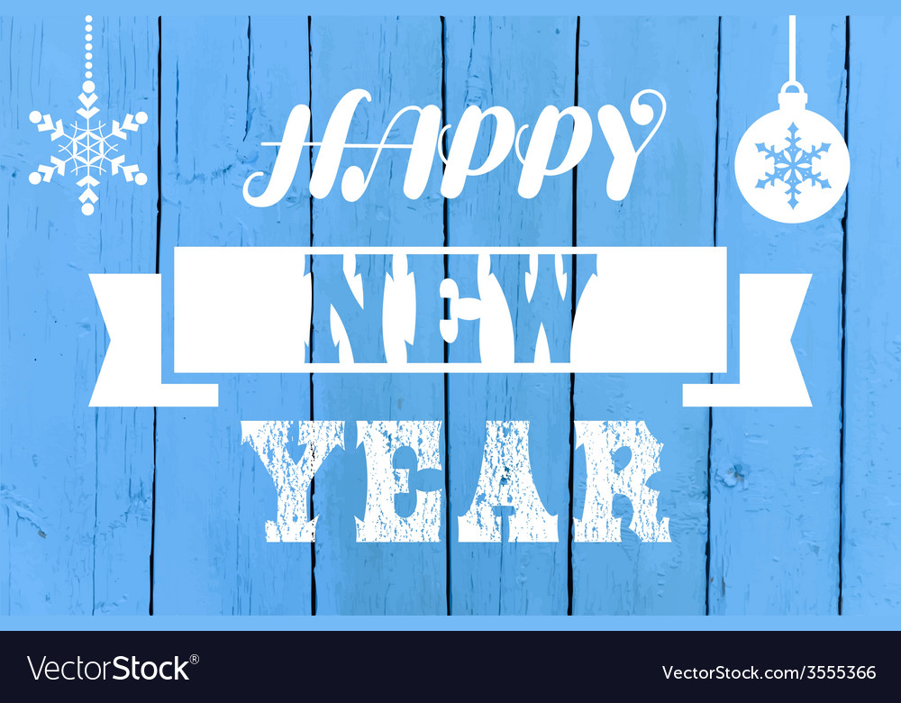 Happy new year greeting card vector   Price: 1 Credit (USD $1)