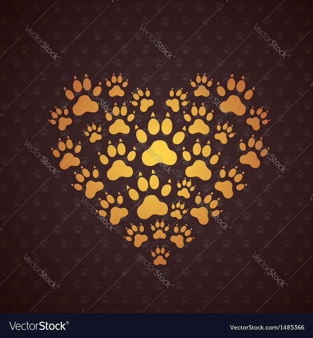Heart of the dog traces vector | Price: 1 Credit (USD $1)