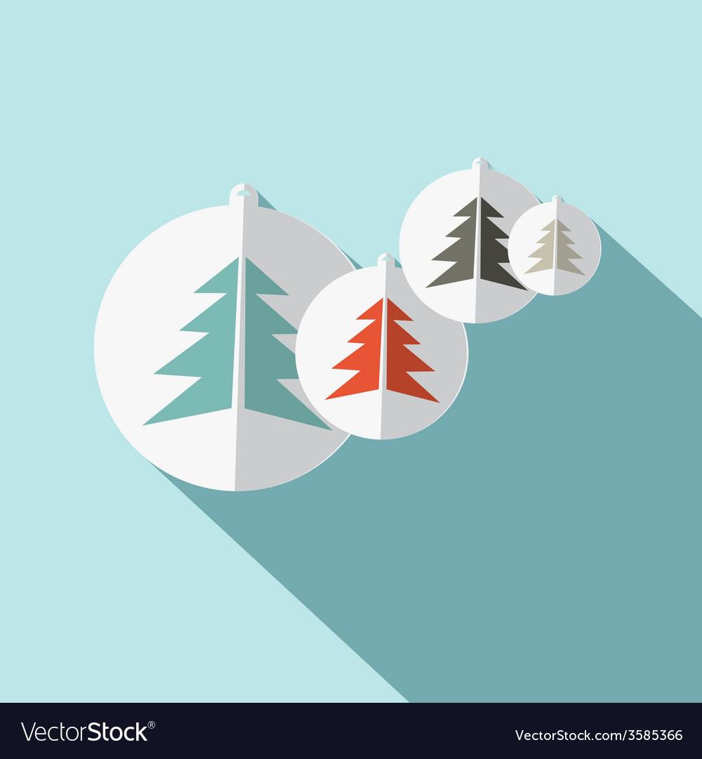 Paper trees flat design vector | Price: 1 Credit (USD $1)