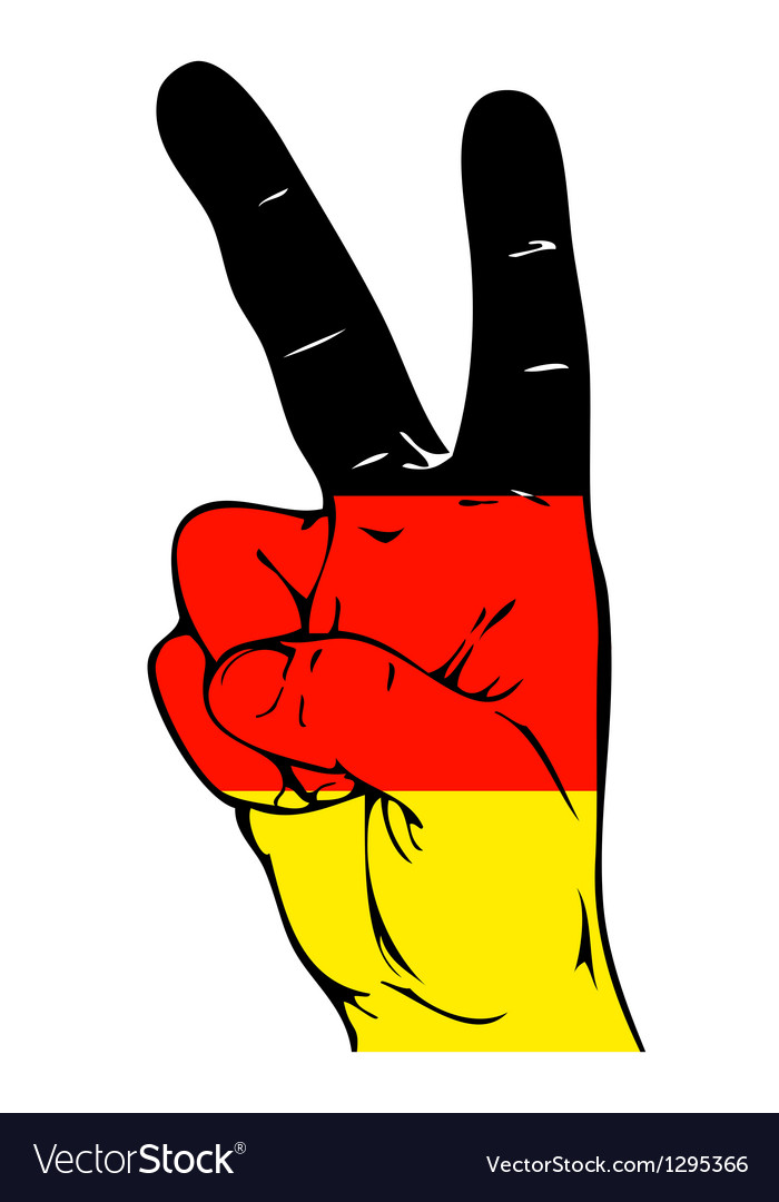 Peace sign of the germany flag vector | Price: 1 Credit (USD $1)
