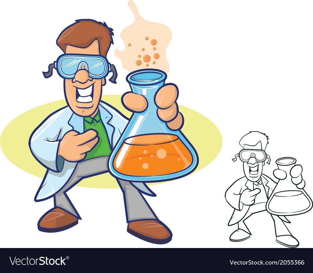 Scientist cartoon vector | Price: 1 Credit (USD $1)