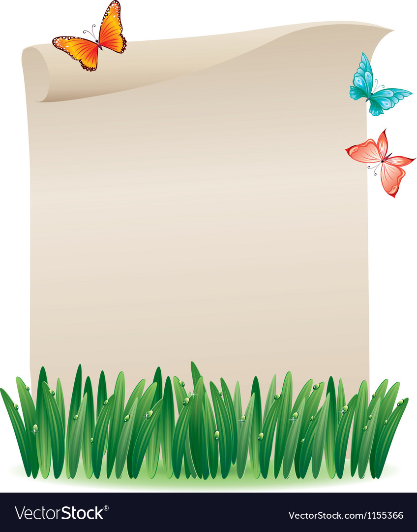 Scroll in the grass vector | Price: 1 Credit (USD $1)
