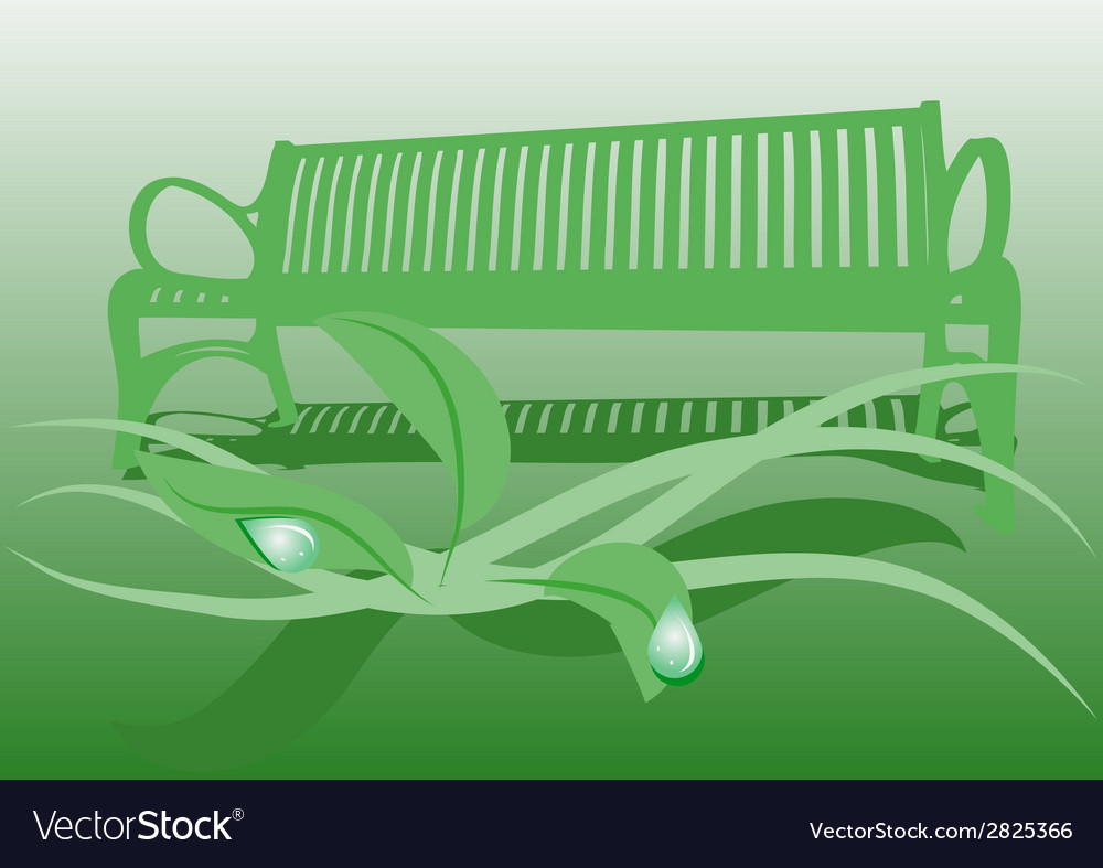 Secluded garden vector | Price: 1 Credit (USD $1)