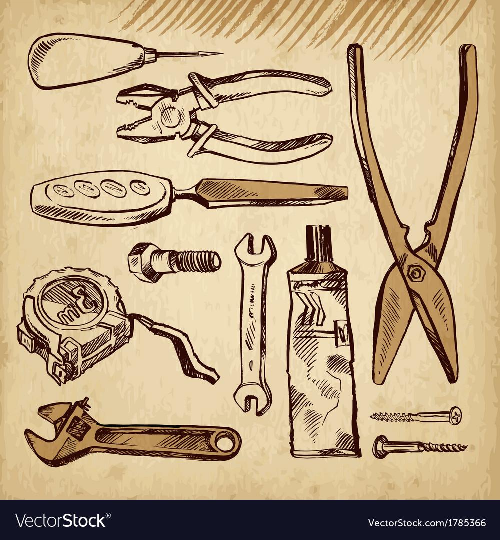 Tools scetch set vector | Price: 1 Credit (USD $1)
