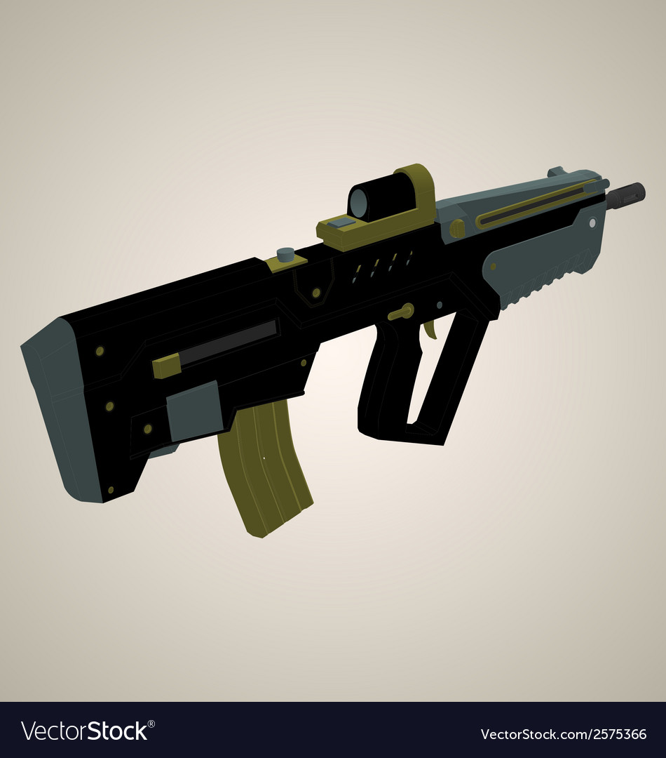 Weapon 2 isometric view vector | Price: 1 Credit (USD $1)