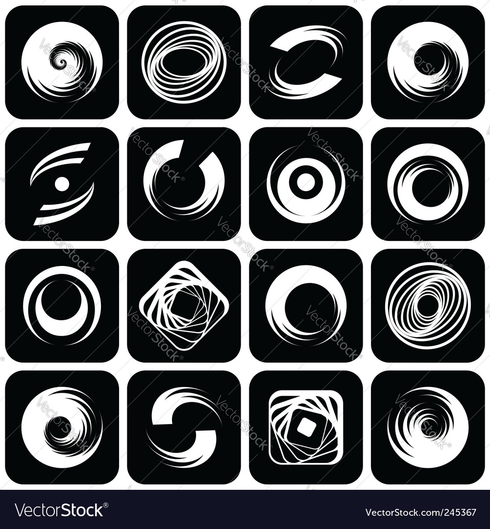 Abstract icons with spiral motion vector | Price: 1 Credit (USD $1)