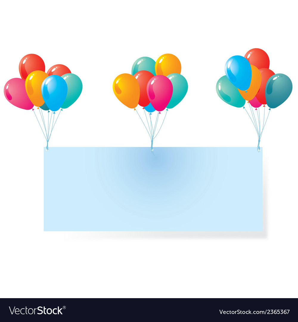 Balloon with blank background vector | Price: 1 Credit (USD $1)