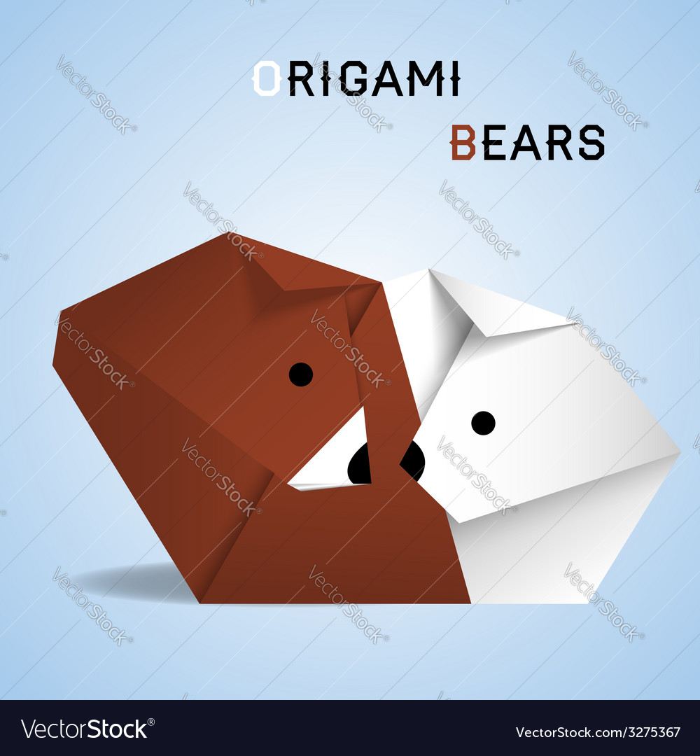 Bears origami vector | Price: 1 Credit (USD $1)