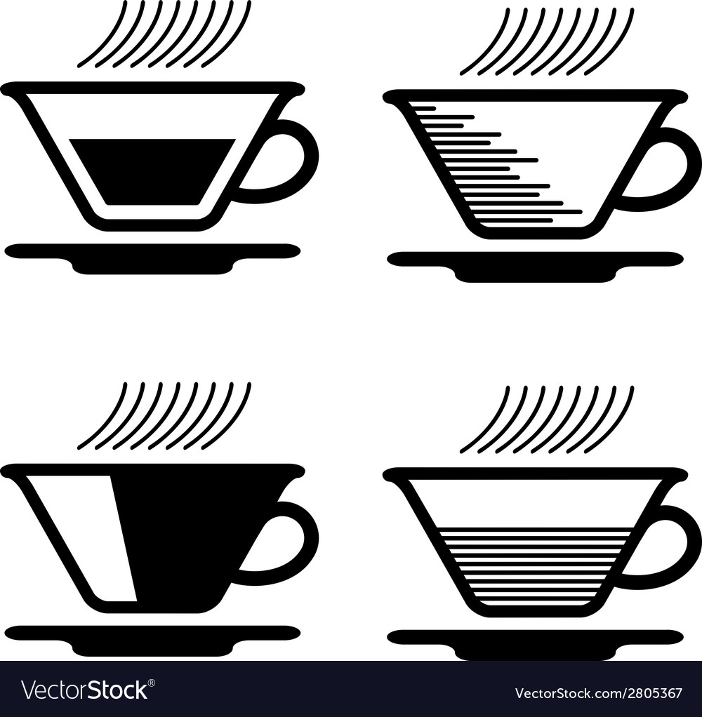 Black tea cup pictograms vector | Price: 1 Credit (USD $1)