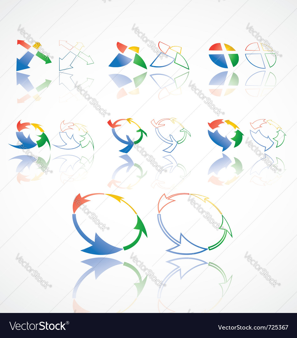 Cycle design elements vector | Price: 1 Credit (USD $1)